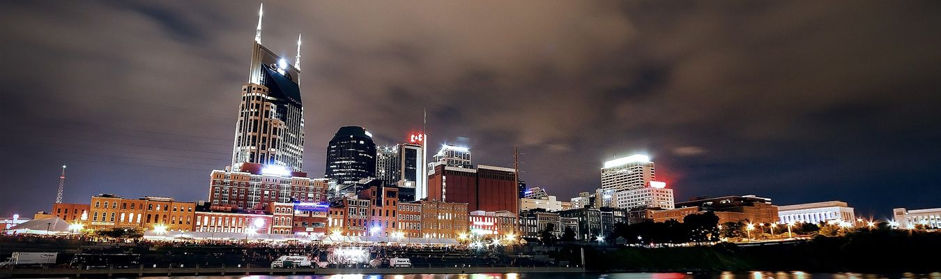 Downtown Nashville at Night with Janet Curtis